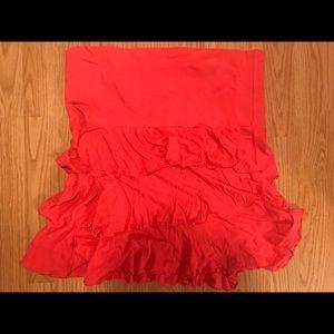 Express brand bright pink ruffle skirt